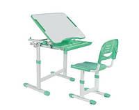 Комплект школьная парта и стул-трансформеры FunDesk Piccolino Green для дома