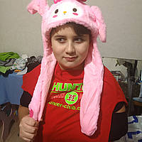 Шапка Хелло Китти с двигающимися ушами и светящаяся, фото 1