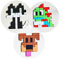 Деревянная игрушка Головоломка-мозаики «Животные», развивающие товары для детей.