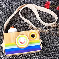 Деревянная игрушка Детский фотоаппарат, развивающие товары для детей.