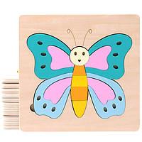 Деревянная игрушка Пазл « Красивая бабочка» 13 дет., развивающие товары для детей.