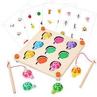 Деревянная игрушка МЕМО. Рыбалка «Черепашки», развивающие товары для детей.
