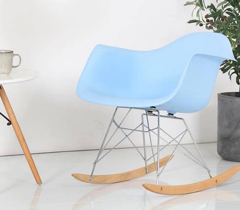 Кресло-качалка Тауэр R на полозьях, пластик, цвет голубой, фото 2