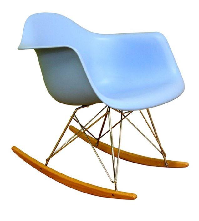 Кресло-качалка Тауэр R на полозьях, пластик, цвет голубой