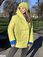 Куртка двухсторонний зефир на синтепухе очень теплая арт к1д