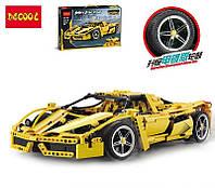 """Конструктор Decool 3382B """"Гоночный автомобиль Enzo Ferrari"""" 2 цвета (Аналог Lego Technic 8653) 1367 дет"""