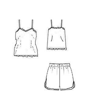 Пижама женская из атласа, фото 3