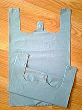Пакеты майка 31*45 см/30 мкм, серые полиэтиленовые пакеты без печати купить без логотипа Киев от производителя
