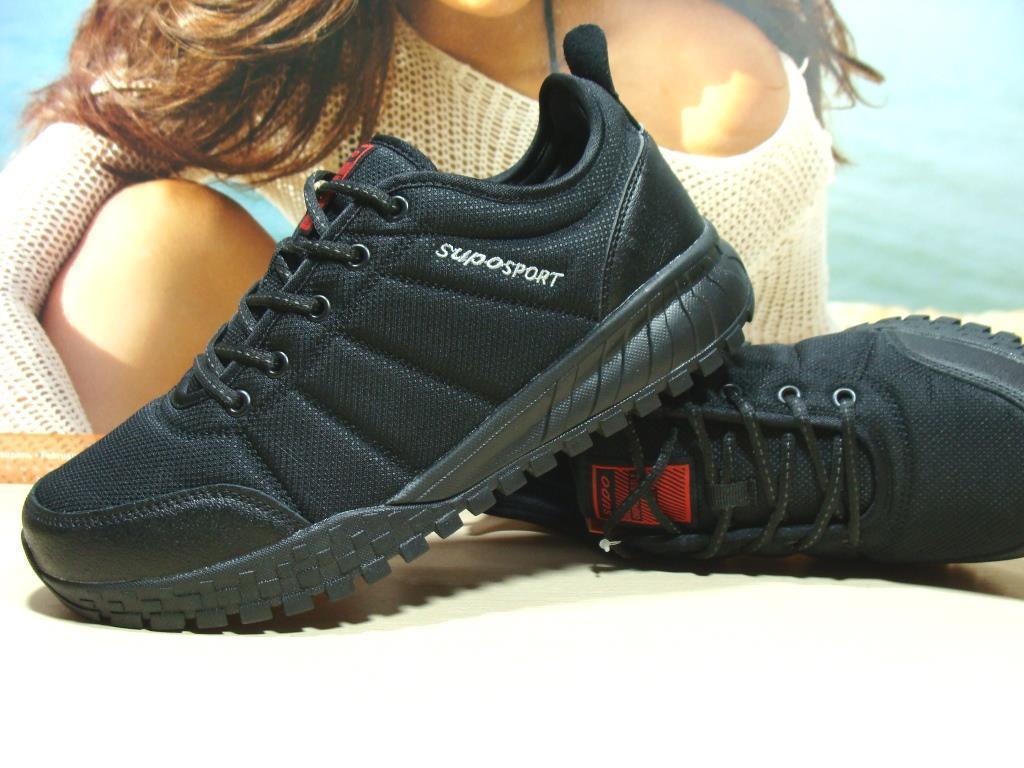Термо кроссовки мужские -Supo Waterproof черные 45 р.