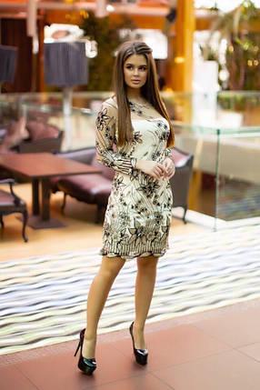 Нарядное короткое платье с кружевом, фото 2