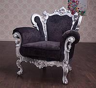 """Мягкое кресло в стиле Барокко """"Изабелла"""" от фабрики производителя. Эксклюзивное, Элитное, из дерева. На заказ"""