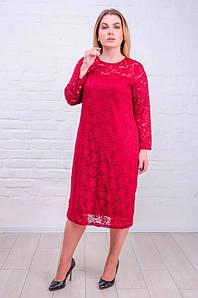 Женское гипюровое платье большого размера 50-62