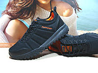 Термо кроссовки мужские -Supo Waterproof черно-оранжевые 42 р., фото 1