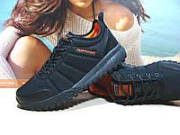 Термо кроссовки мужские -Supo Waterproof черно-оранжевые 43 р., фото 1