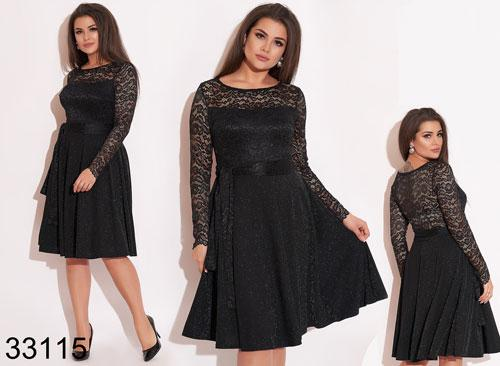 Вечернее женское платье с блестками и гипюром р.50-52,54-56