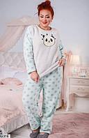 Пижама женская с повязкой в комплекте теплая мягкий плюш 48-52,52-54,56-58 размеров