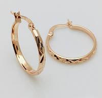 Женские серьги, сережки  кольца, 24* 2.5* мм