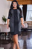 Платье женское демисезонное трикотаж твид с ворсом 50,52,54,56 размеров Турция