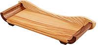 Сервировочная Доска Для Подачи Блюд С Бортиком PORSHEN  Из Ясеня И Ореха 11 х 29.5 см (DP 003DP), фото 1