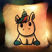"""Подушка-ночник """"Маленький Единорог"""". Светящаяся подушка"""
