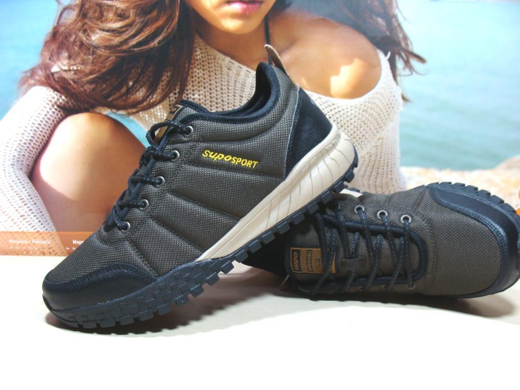 Мужские термо кроссовки - Supo Waterproof коричневые 45 р.