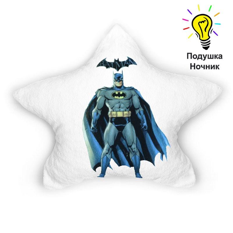 """Детская светящаяся подушка-ночник """"Batman"""""""