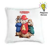 """Детская подушка-ночник """"Элвин и Бурундуки"""""""
