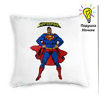 """Детская светящаяся подушка-ночник """"Superman"""""""