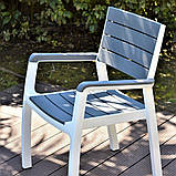 Стілець садовий вуличний Keter Harmony Armchair, фото 3