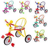 Триколісний дитячий велосипед Гномик різні кольори.