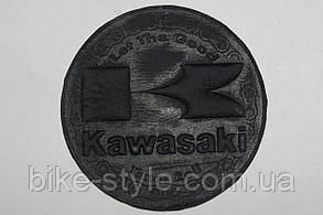 Нашивка кожаная Kawasaki