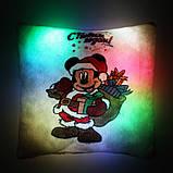 """Подушка ночник """"Микки Маус с Новым Годом"""" (светящаяся), фото 2"""