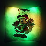 """Подушка ночник """"Микки Маус с Новым Годом"""" (светящаяся), фото 5"""