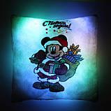 """Подушка ночник """"Микки Маус с Новым Годом"""" (светящаяся), фото 6"""