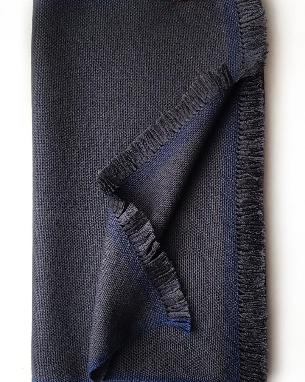 Кашемировый шарф Chadrin с шелком цвета графит