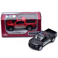 "Машина Kinsmart ""FORD F-150 SVT RAPTOR SUPERCREW (2013)"" полиция/пожарная KT5365WPR"