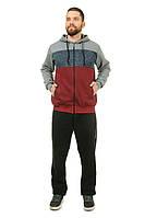Теплый спортивный костюм мужской Трехнитка на флисе  с вставками вязки Размер 50 52 54 56 58 В наличии 2 цвета