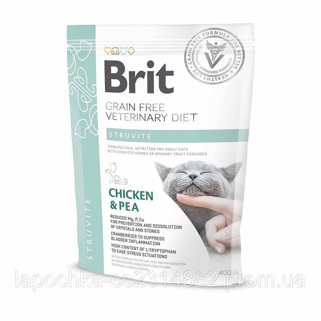 Корм Brit GF Veterinary Diets Cat Struvite беззерновая диета для котов при мочекаменной болезни