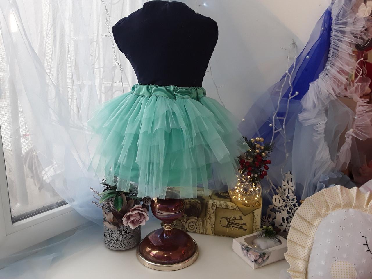 Пушистя спідниця для дівчинки, багатошарова спідниця будь-які кольори і розміри.