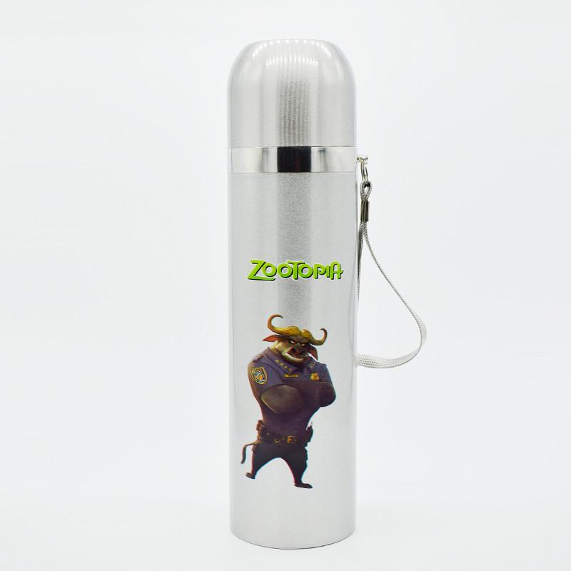 Термос металлический 500мл Zootopia
