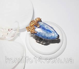Серебряное кольцо с натуральным кианитом