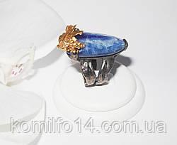 Срібне кільце з натуральним кианитом, фото 2