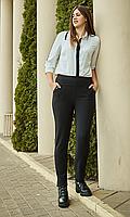 Зимние брюки увеличенных размеров на байке №1828(черные)