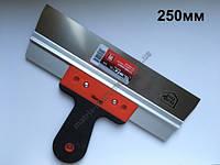 Шпатель фасадный из нержавеющей стали, 250 мм, узкое полотно, 2-комп. ручка MTX