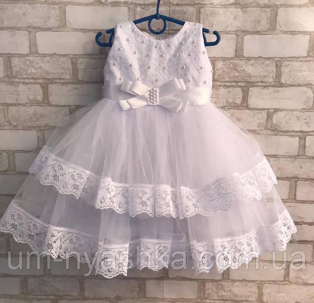 белое пышное платье снежинка на 2-3 годика