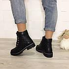 Женские зимние ботинки в черном цвете, натуральная кожа, фото 4