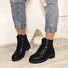 Женские зимние ботинки в черном цвете, натуральная кожа, фото 5