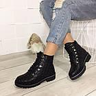 Женские зимние ботинки в черном цвете, натуральная кожа, фото 6