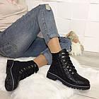Женские зимние ботинки в черном цвете, натуральная кожа, фото 7
