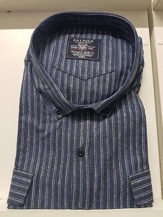 АКЦИЯ!!! Мужская рубашка кашемир Palmen в полоску, фото 2